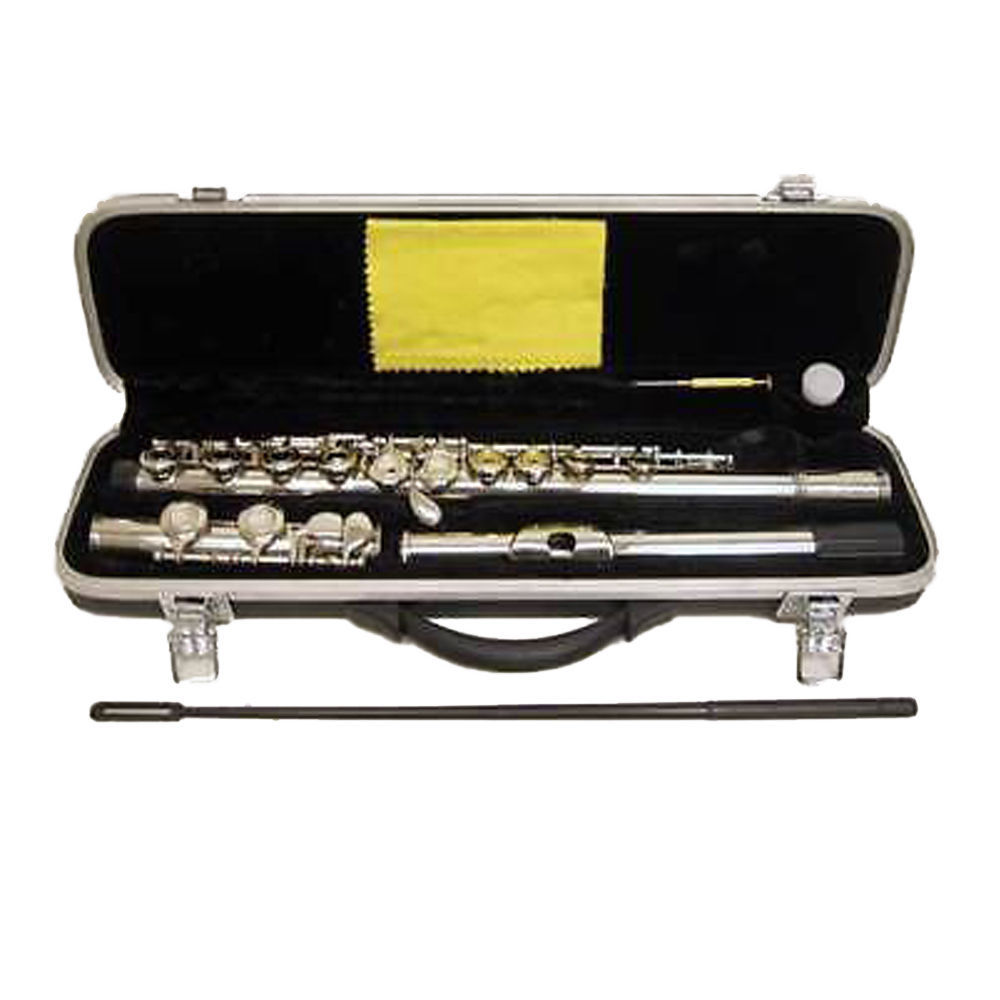 SKY Band Approved Nickel Closed Hole Flute+FREE Name tag Holder