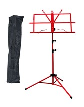 New High Quality Adjustable Strong Folding Sheet Music Stand w Carrying ... - $18.69