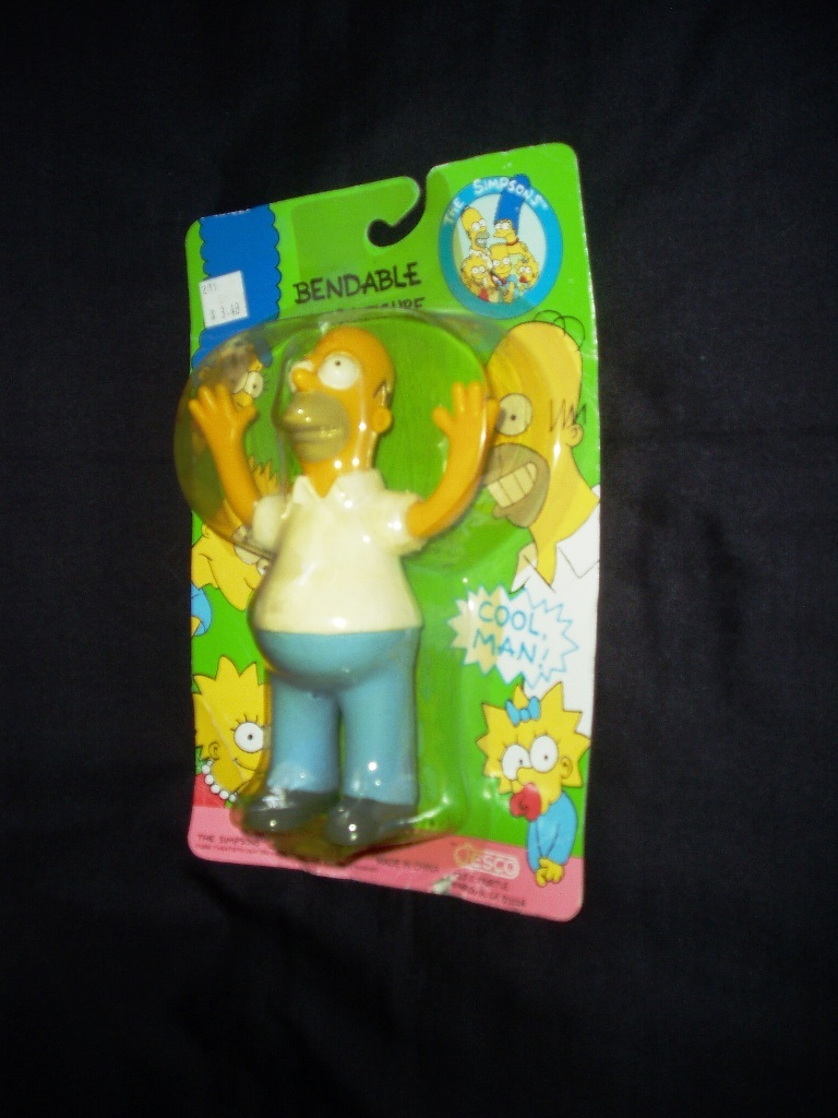1990 Homer Simpson Bendable Action Figure! New On Original Sealed Card!