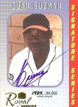2000 autograph juan guzman royal rookies baseball card orioles - $4.99