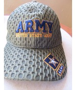 US Army Green w/ Blue Yellow Unusual Logo Adjustable Baseball Cap Hat! - $14.46