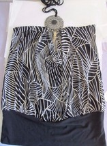 Topia Black White Geometric Print w/ Medallion Sleeveless Clubwear Top! ... - $10.69