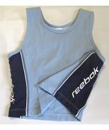 Reebok Blue Sleeveless Workout, Yoga Shirt! Bra Shelf! Sz M! Made in USA... - $7.80