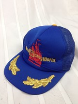 VTG Walt Disney World Trucker Hat Cap Snapback Gold Leaf Scrambled Eggs ... - $26.05