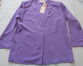 NWT S G Sport Purple L/S Button Blouse Top Blazer! Sz M! 100% Polyester! U.S.A.! - $10.22