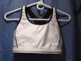 Champion Racerback Black & White REVERSIBLE Sports Bra Athletic Top! Sharp - $15.43