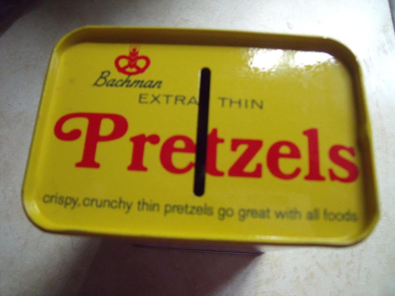 Bachman Pretzel Tin Bank-Vintage