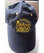 Grand Casino Mississippi Black w/ Yellow Logo Adjustable Baseball Cap Hat! - $17.37