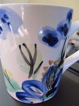 Royal Norfolk Blue Green Modern Floral Design Large Coffee Cup Mug! - $13.50