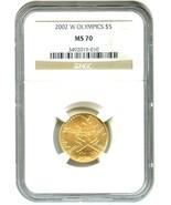 2002-W Salt Lake City Olympics $5 NGC MS70 - Mo... - $613.80