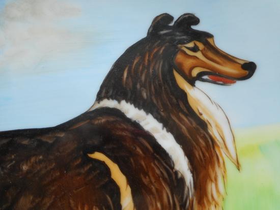 Dog - Vintage OOAK Rough Collie / Shetland Sheep Dog / Sheltie Norcrest Plate