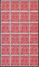 1920's Postage Production Test Block of 24 Stamps  - Stuart Katz - $475.00