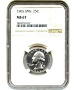 1965 25c NGC MS67 (Special Mint Set) Washington... - ₨2,007.39 INR