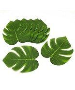 Polyester Green Tropical Leaves Luau Table Party Decorations Pack of 12 - $4.99+
