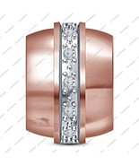 925 Sterling Silver Rose Gold Plated Beads Charms Sale Fit Pandora Brace... - £30.47 GBP