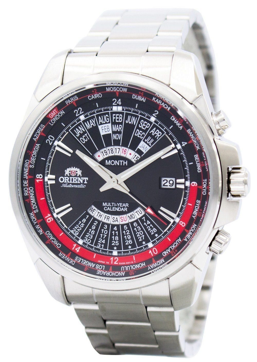 Primary image for Orient Automatic Multi Year Calendar World Time SEU0B001BH Mens Watch