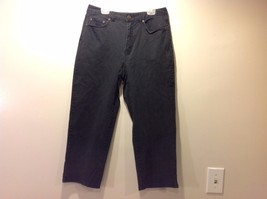Used Great Condition Talbots Size 6 Black Stretch Cotton Blend Pants