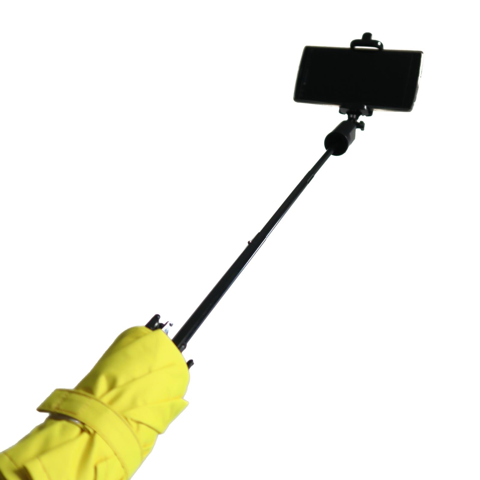 Umbrella Selfie Stick Monopod Phone Mount Bluetooth Tripod Fold UV Water Resist
