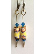 LuLaRoe Inspired Earrings Flowers Yellow Blue F... - $9.80