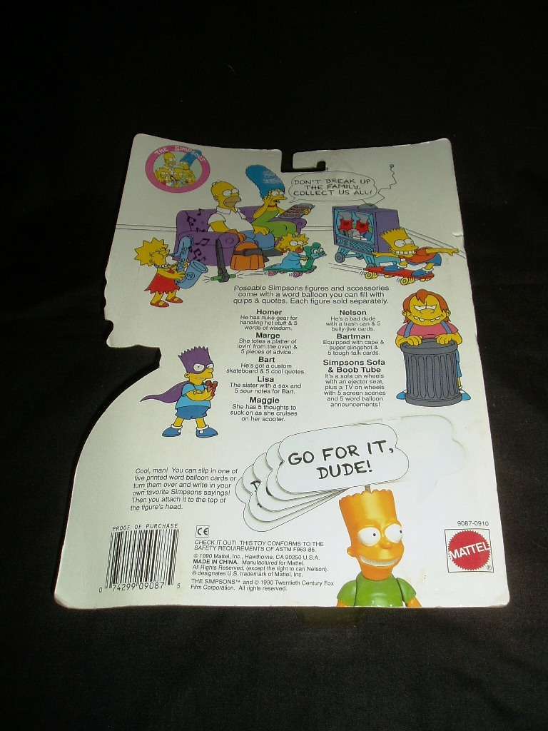 1990 Marge Simpson Poseable Figure & Accessories! Original Sealed Package!