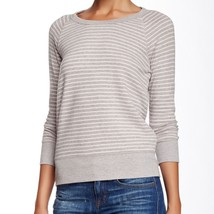 NWT James Perse 3 - Large Gray/WHT Knit Top Layer Pullover $145 Style W9... - $29.99