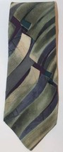 Nino Ceruti Men Neck Tie Green Violet Abstract 100% Silk Made In USA Classic - $7.69
