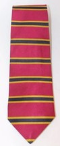Brooks Brothers Men Neck Tie Burgundy Stripe Blue USA 100% Silk Gold - $28.04