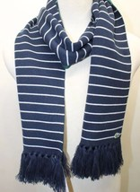 NWT Lacoste Live Men Scarf Blue Stripe Tussle - $83.79