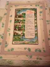 Handmade one of a kind lap quilt With Vintage Waltzing Matilda Tea Towel - $45.00
