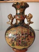 """Satsuma Vase 14""""h Large Handled no Marks - $58.41"""