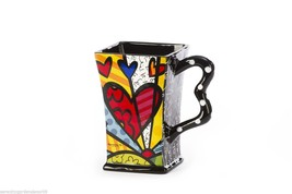 Romero Britto Dolomite Square A New Day Mug 14 oz Gift Box  #3303012 NEW