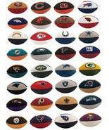 Licensed NFL Mini Football Puzzle Erasers - Pic... - $0.99