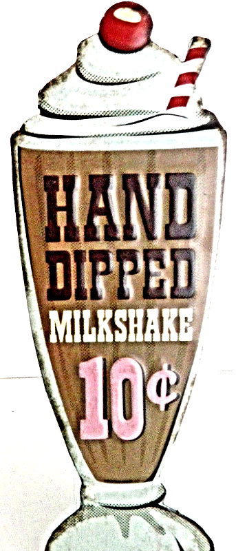Primary image for Hand Dipped Milkshake Antique Style Metal Wall Plaque Home Decor