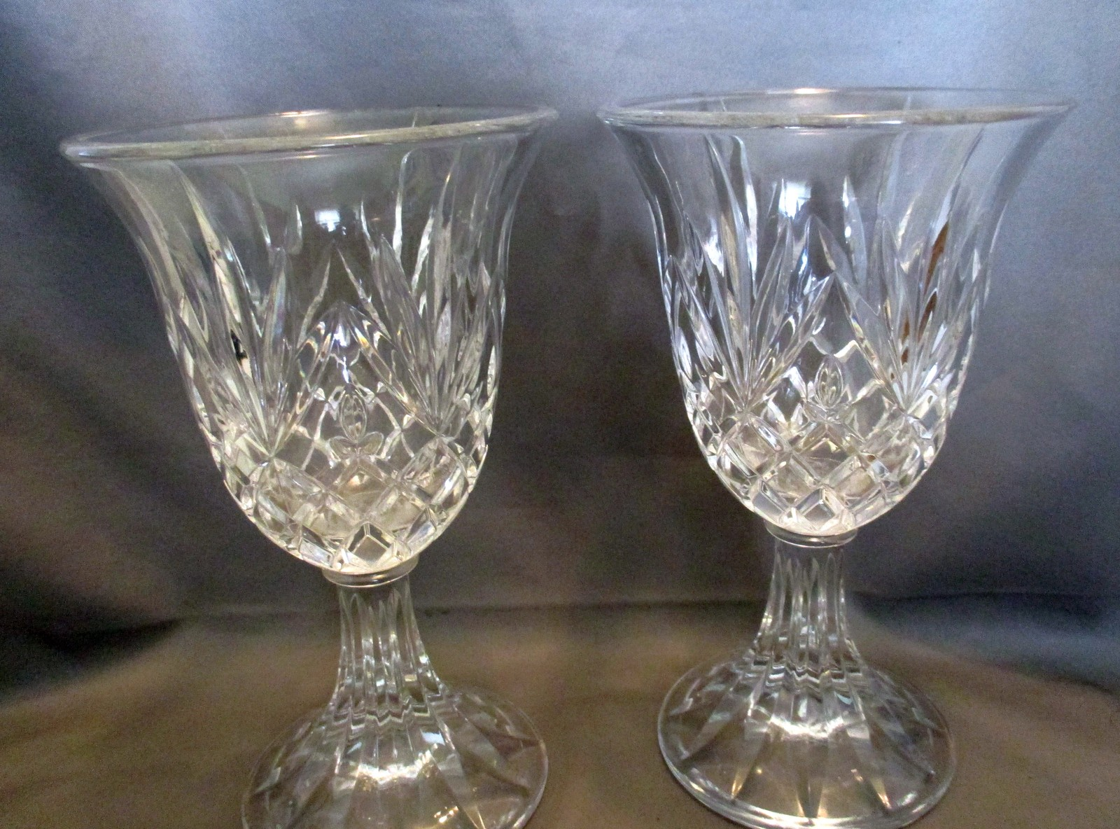 Set of 2 vintage deplomb lead crystal footed and 50 similar items reviewsmspy