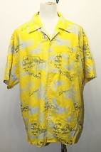 Pepe Jeans Yellow Hawaiian Short Graphic Embroidered Logo XL Screw Driver - $28.04