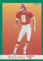Nick Lowery 1991 Fleer Card #94 - $0.99