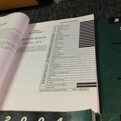 2004 DODGE DURANGO Service Repair Shop Manual Set W Recalls & Highlights + OEM
