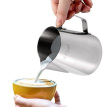 Milk Pitcher XChef Stainless Steel Cup Frothing 600ml20floz 602310180450... - $19.60