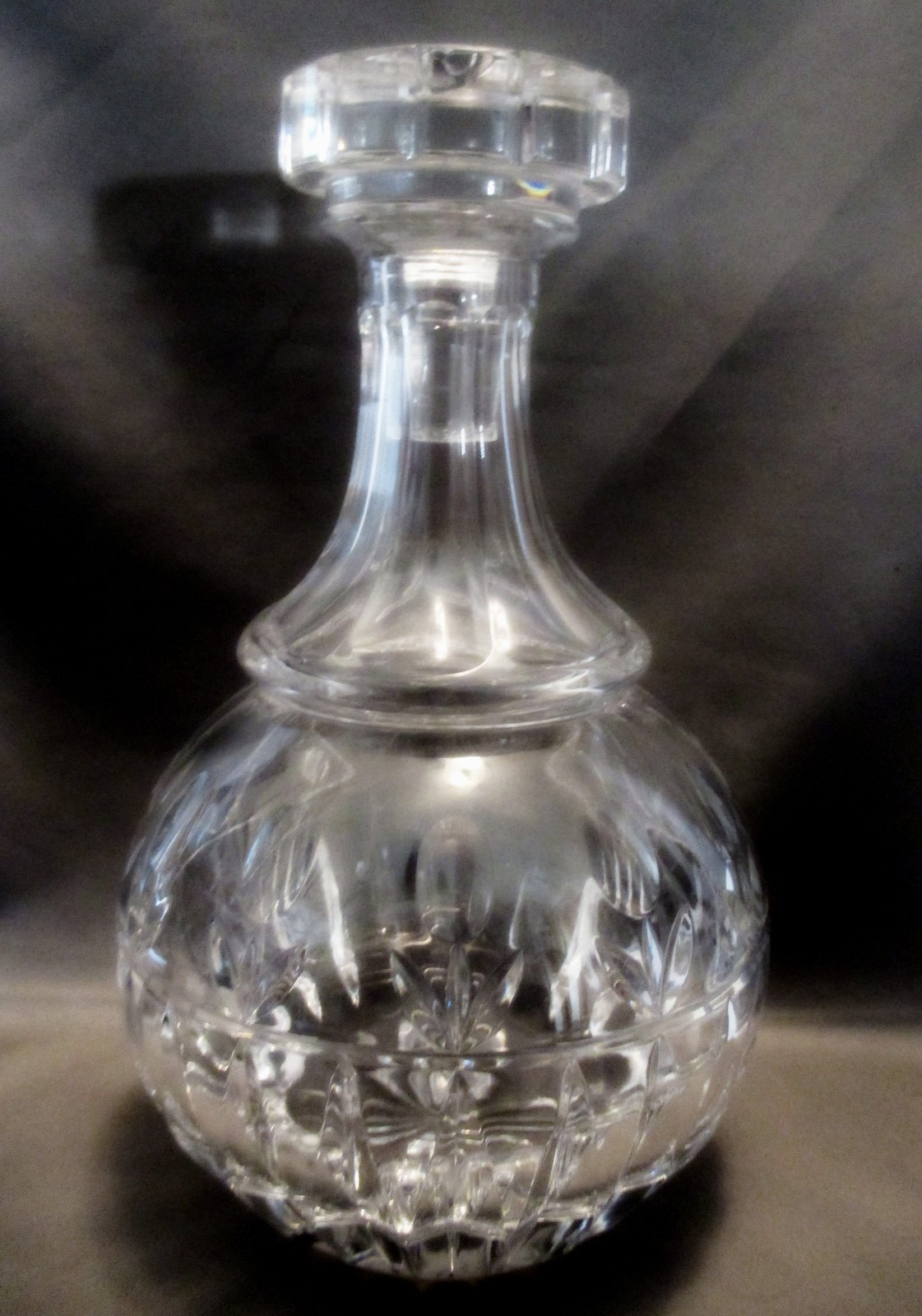 Crystal  Decanter By Block Stunning Incredible Refraction Tulip Design