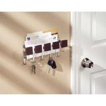 Key Storage Holder Rack Mail Letter Organizer Wall Mount 5 Hooks Entry Kitchen  - $20.79