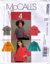 2006 JACKETS Pattern 5697-m Child Sizes 7-8-10-12-14 - UNCUT - $10.99