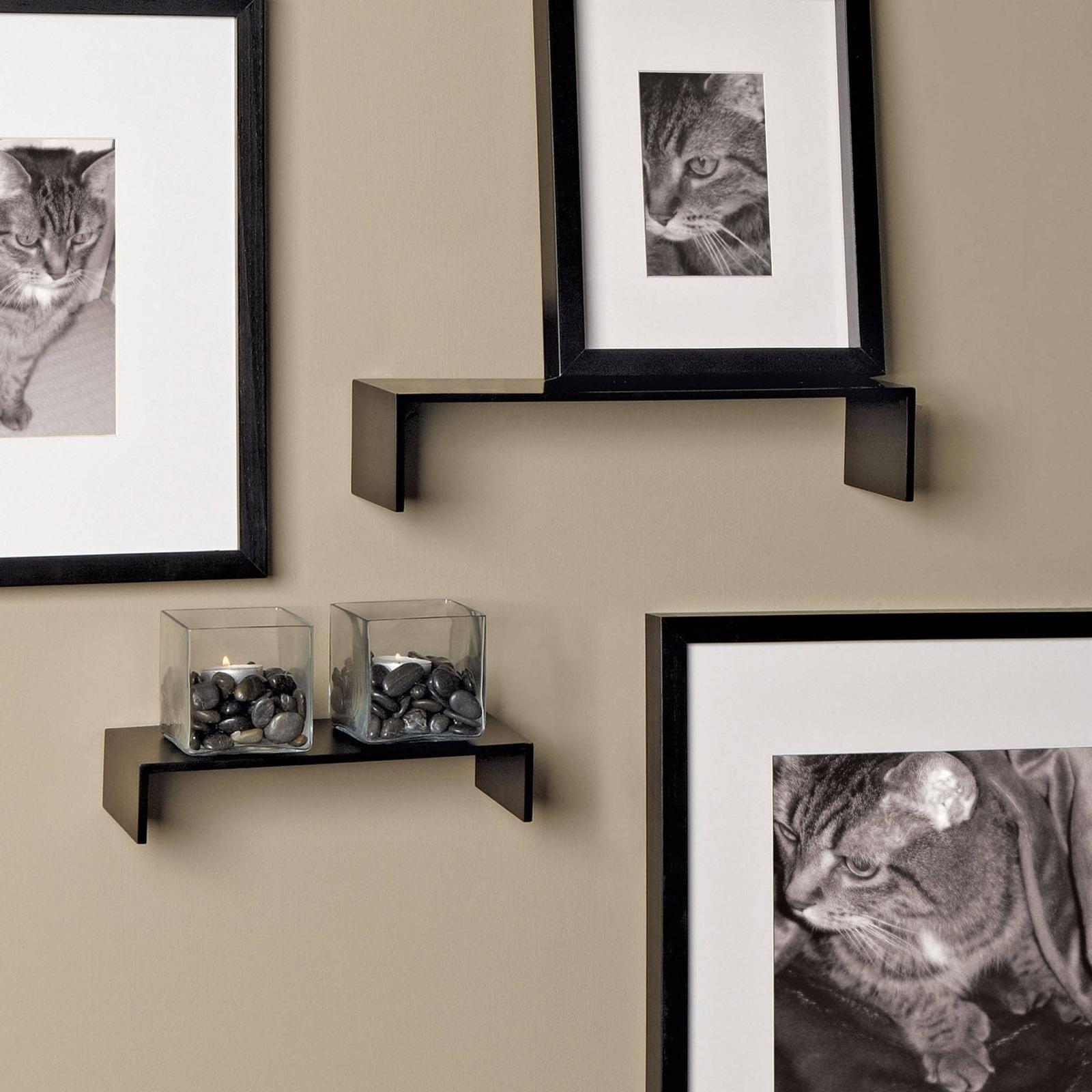 Display Shelves Wall Mounted Decorative Wall 2 Set Shelf