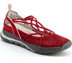 New Jambu Reign Women's Size 6 EU 36 Memory Foam Slip On Walking Shoe Red - $38.69