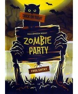 """Zombie Party"" Halloween Flag - $8.75"