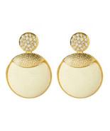 New Amrita Singh Crystal Sunrise Earrings - White Jade ERC489 Austrian C... - $16.03