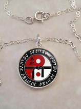 Sterling Silver 925 Pendant Necklace jujitsu Martial Arts MMA - £21.88 GBP+