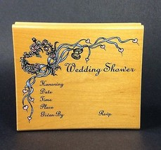 Rubber Stamp Wedding Shower Invitation Inkadink... - $14.95