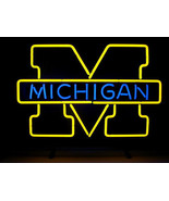 "NCAA Michigan Wolverines College Beer Bar Neon Light Sign 18""x 16"" High Quality - $129.00"