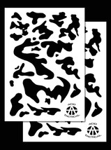 "2Pack! Vinyl Airbrush Stencils 10 Mil Camouflage Duracoat 9x14"" (Army Camo) - $7.99"