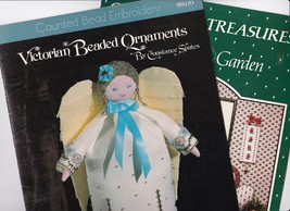 Lot of 2 Victorian Christmas Ornament Pattern Books, Counted Cross Stitc... - $5.99